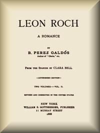 Cover of Leon Roch: A Romance, vol. 2 (of 2)