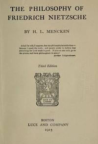 Cover of The Philosophy of Friedrich Nietzsche