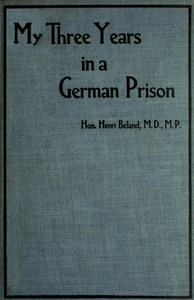 My Three Years in a German Prison