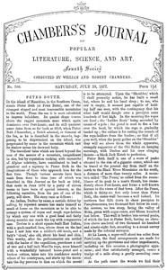 Chambers's Journal of Popular Literature, Science, and Art, No. 709July 28, 1877