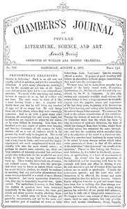 Chambers's Journal of Popular Literature, Science, and Art, No. 710August 4, 1877