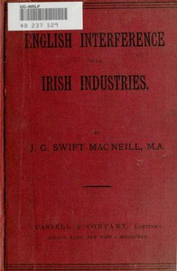 Cover of English Interference with Irish Industries