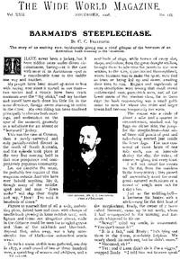 The Wide World Magazine, Vol. 22, No. 128, November, 1908