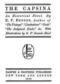 The Capsina: An Historical Novel