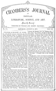 Cover of Chambers's Journal of Popular Literature, Science, and Art, No. 711, August 11, 1877