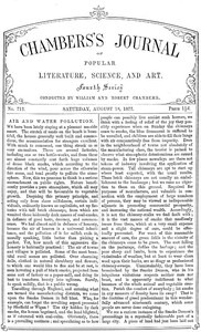 Cover of Chambers's Journal of Popular Literature, Science, and Art, No. 712August 18, 1877