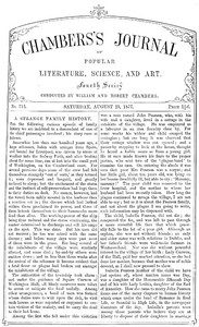 Cover of Chambers's Journal of Popular Literature, Science, and Art, No. 713, August 25, 1877