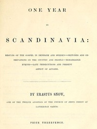 One Year in Scandinavia Results of the gospel in Denmark and Sweden; sketches and observations on the country and people; remarkable events; late persecutions and present aspect of affairs