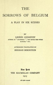 Cover of The Sorrows of Belgium: A Play in Six Scenes