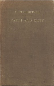 Cover of Faith and Duty: Sermons on Free Texts, with Reference to the Church-Year