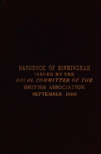 Cover of Handbook of BirminghamPrepared for the Members of the British Association, 1886