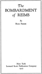 Cover of The Bombardment of Reims