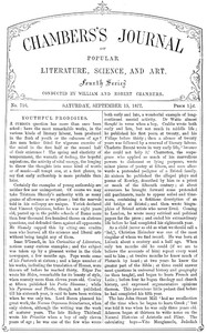 Chambers's Journal of Popular Literature, Science, and Art, No. 716September 15, 1877