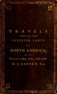 Cover of Travels Through the Interior Parts of North America, in the Years 1766, 1767 and 1768