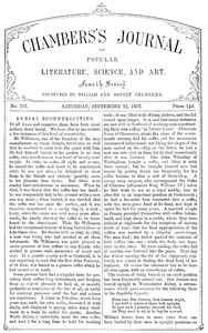 Chambers's Journal of Popular Literature, Science, and Art, No. 717, September 22, 1877