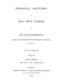 Cover of Personal Sketches of His Own Times, Vol. 2 (of 3)