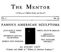 The Mentor: Famous American Sculptors, Vol. 1, Num. 36, Serial No. 36