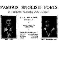 Cover of The Mentor: Famous English Poets, Vol. 1, Num. 44, Serial No. 44