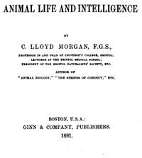 Cover of Animal Life and Intelligence