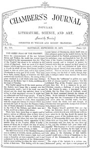 Chambers's Journal of Popular Literature, Science, and Art, No. 718September 29, 1877