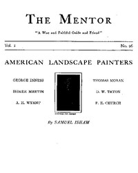 Cover of The Mentor: American Landscape Painters, Vol. 1, Num. 26, Serial No. 26