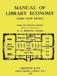 Cover of Manual of Library EconomyThird and Memorial Edition