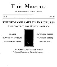 Cover of The Mentor: The Contest for North America, Vol. 1, No. 35, Serial No. 35 The Story of America in Pictures