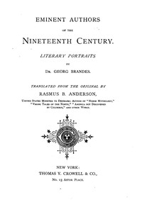 Cover of Eminent Authors of the Nineteenth Century: Literary Portraits