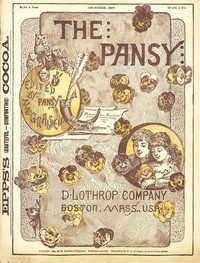 Cover of The Pansy Magazine, Vol. 15, Dec. 1887