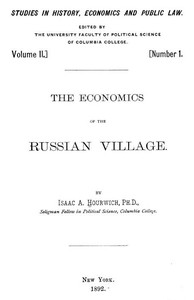 The Economics of the Russian Village