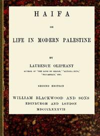 Cover of Haifa; or, Life in modern Palestine