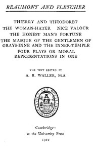 Cover of Beaumont and Fletcher's Works, Vol. 10 of 10