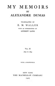 Cover of My Memoirs, Vol. II, 1822 to 1825