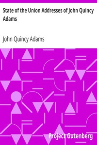 Cover of State of the Union Addresses of John Quincy Adams
