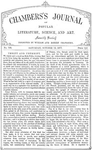 Chambers's Journal of Popular Literature, Science, and Art, No. 720, October 13, 1877
