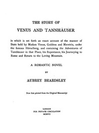 The Story of Venus and Tannhäuser: A Romantic Novel