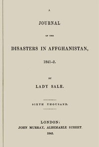 Cover of A Journal of the Disasters in Affghanistan, 1841-2