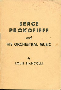 Cover of Serge Prokofieff and His Orchestral Music
