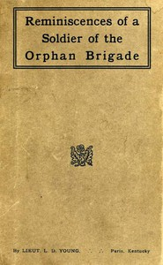 Cover of Reminiscences of a Soldier of the Orphan Brigade