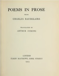 Cover of Poems in Prose