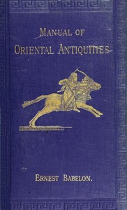Cover of Manual of Oriental Antiquities