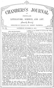 Cover of Chambers's Journal of Popular Literature, Science, and Art, No. 722October 27, 1877
