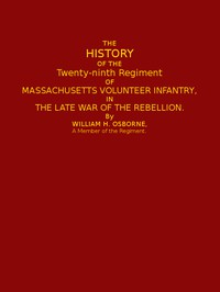 Cover of The History of the Twenty-ninth Regiment of Massachusetts Volunteer Infantryin the Late War of the Rebellion
