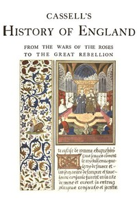 Cover of Cassell's History of England, Vol. 2 (of 8) From the Wars of the Roses to the Great Rebellion