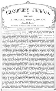Chambers's Journal of Popular Literature, Science, and Art, No. 724November 10, 1877
