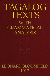 Cover of Tagalog Texts with Grammatical Analysis