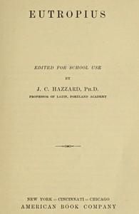 Cover of Eutropius