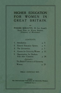 Cover of Higher Education for Women in Great Britain