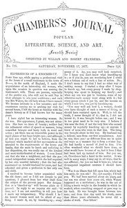 Cover of Chambers's Journal of Popular Literature, Science, and Art, No. 725, November 17, 1877