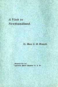 Cover of A Visit to Newfoundland